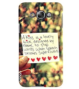 Omnam Truly Love Quote Printed With Background Blurr Effect Designer Back Cover Case For Samsung Galaxy E5
