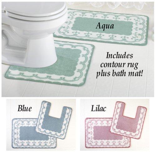 Victorian Scroll Bathroom Rugs - Set Of 2