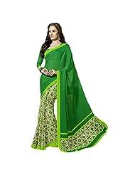Fancy Beautiful Green Colored Printed Art Silk Saree By Triveni