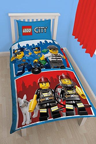 Character World Lego City eroi Pannello Singolo Set Copripiumino