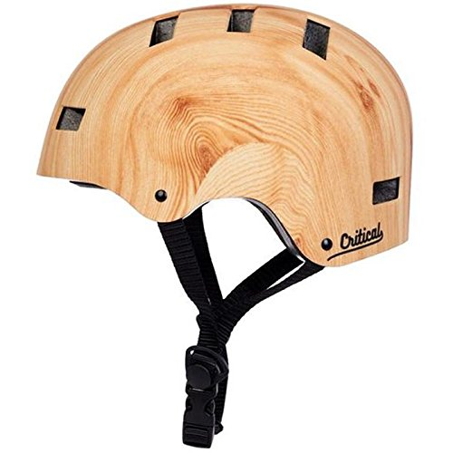 critical-cycles-unisex-classic-commuter-bike-skate-multi-sport-helmet-with-8-vents-bamboo-small-51-5