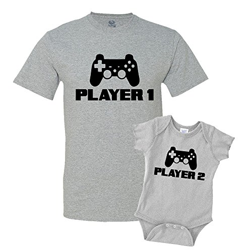 Player 1 & Player 2 Matching T-Shirt & Onesie