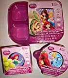 Disney Princess Hot Pink Tupperware 7 Piece Set - Resuable Food Storage Containers Featuring Cinderella, Ariel, Belle & Sleeping Beauty