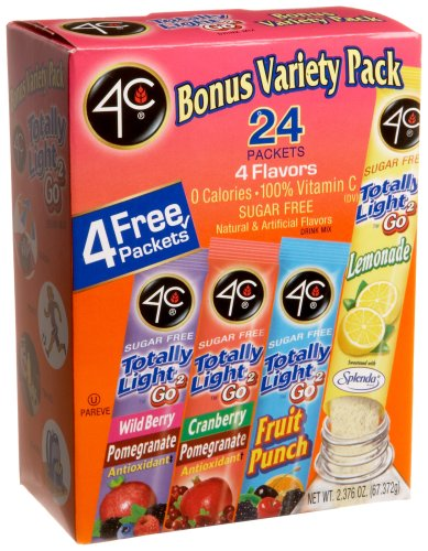 4C Totally Light To Go Bonus Variety Pack, 4 Flavors, 24-Count Boxes (Pack of 3)