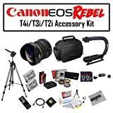 Deluxe Accessory Kit for Canon EOS Rebel T2i T3i T4i T5i 550D 600D 650D 700D Kiss X4 X5 X6 X6i X7i DSLR Digital Camera with Opteka 6.5mm f/3.5 Fisheye Lens, Two (2) Pack of Opteka LP-E8 LPE8 Extended Battery Pack, Two (2) Pack of 32GB SDHC High Speed Mem