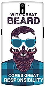 The Racoon Grip printed designer hard back mobile phone case cover for Oneplus One. (Beard Resp)