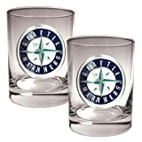 MLB Seattle Mariners Two Piece Rocks Glass Set - Primary Logo Amazon.com
