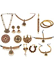 Preethi Gold Plated Gold Metal Jewellery Set For Children (Preethi_62)