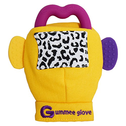 Gummee Glove Teething Mitten Pink - 1