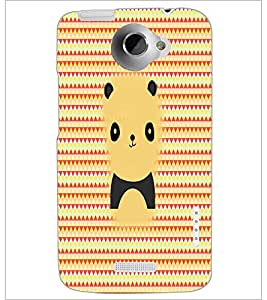 PrintDhaba Cartoon D-2979 Back Case Cover for HTC ONE X (Multi-Coloured)