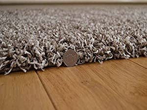 Shaggy Thick Modern Luxurious Mocha Rug High Pile Long Pile Soft Pile Anti Shedding Available in 9 Sizes by SuperRugStore