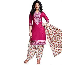 Neerja Creation Womens cotton Unstiched Dress material(K-1011_Pink_Free size)