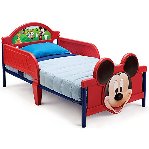 Kinderbett-Babybett-Jugendbett-3D-mit-Motivauswahl-Mickey-Mouse