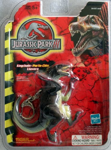 Buy JURASSIC PARK – RAPTOR KEYCHAIN w/ Motion Activated Lights + Roaring Raptor Dinosaur Sounds