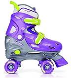 Chicago Skates Girl's Adjustable Quad (Toddler/Little Kid/Big Kid) Purple/Silver Roller Skates MD (1 Little Kid - 4 Big Kid) B - Medium