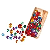 Grimms Glittering Stones - Set of Acrylic Jewels for Pretend Play, Math, Decorating & Crafts