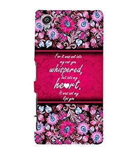 Beautiful Love Quote Cute Fashion 3D Hard Polycarbonate Designer Back Case Cover for Sony Xperia X :: Sony Xperia X Dual F5122