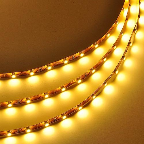 E-Ipess(Tm) 5M12V Flexible Led Strip Lights, Led Tape,300 Units 3528 Smd Leds, Non-Waterproof, Light Strips, (Yellow)
