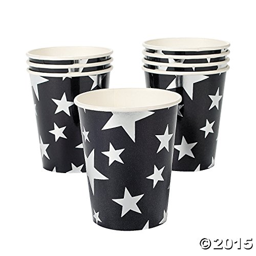 Silver Foil Star Paper Cups (8 pc)