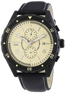 Esprit Herren-Armbanduhr XL Alamo Chrono Beige Chronograph Quarz Leder ES105551002