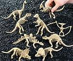 Pack of 6 - Plastic Dinosaur Skeleton...