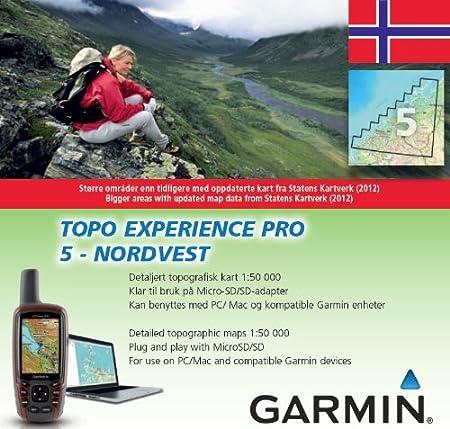 Garmin TOPO Norway Experience Pro 5 Nordvest, 010-11911-00 (Nordvest)