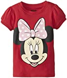 Disney Little Girls' Minnie Mouse Big Face Girls T-Shirt