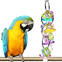 Coco*store Pet Bird Bites Toy Colorful Peck Parrot Cage Play Toys Cockatiel Budgie Lovebird