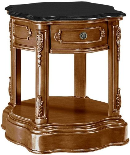 "Baymont 24.5""h Side End Table, 24.5""Hx21""W, ANTIQUE OAK"