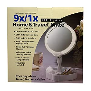 Amazon Com Home Travel 9x 1x Folding Lighted Cosmetic
