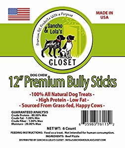 12 best all natural premium bully sticks grass fed 100 beef made in usa low. Black Bedroom Furniture Sets. Home Design Ideas