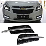 iJDMTOY Exact Fit Mercedes W204 Style 10W High Power Switchback LED Daytime Running Light Kit For Chevrolet Cruze