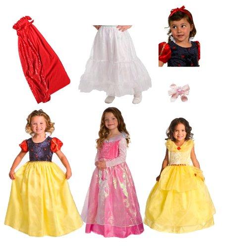 Little Adventures Deluxe Cinderella Costume: 7 Item Bundle: Little Adventures Deluxe Princess Dress Up