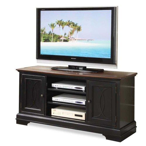 buy low price riverside furniture anelli corner 61 tv stand in vintage cherry and bridgewood. Black Bedroom Furniture Sets. Home Design Ideas