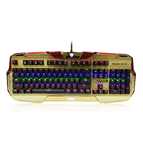 Iron Man Wired Mechanical Gaming Keyboard Programable RGB Lighting Effect Officially Licensed Officially Licensed by Disney Marvel North America (Alienware Merchandise compare prices)