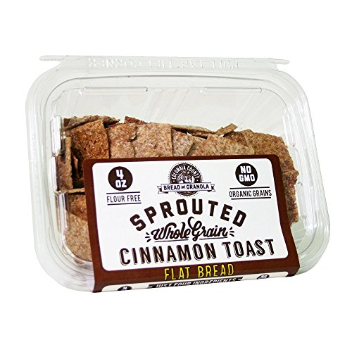 """Cinnamon Toast"" Sprouted Wheat Flatbread Crackers (4Oz)"