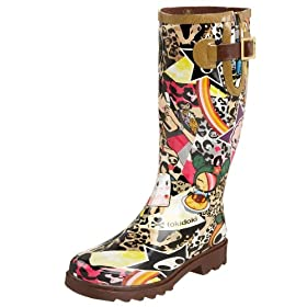 Chooka Women's Tokidoki Leopard Cute Rain Boot