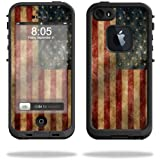 Mightyskins Protective Vinyl Skin Decal Cover for LifeProof iPhone 5 / 5S Case fre Case wrap sticker skins Vintage Flag