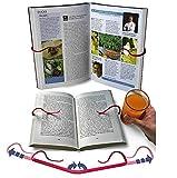 【KUENTAI】ブックストッパー 折りたたみ 本を開いたままにできる 料理本 レシピ 読書など 両手が使えて便利 ブックカバー ブックエンド 重し (1個)