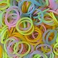 Cheri-1200 Loom Bandz �lastiques FLUORESCENTS 50 Clips S-attaches multicolores latex Twistz Bandz