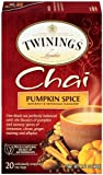 Twinings Chai Tea, Pumpkin Spice, 20 Count Box, Pack of 2
