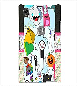 PrintDhaba Graffiti D-4975 Back Case Cover for SONY XPERIA Z1 (Multi-Coloured)