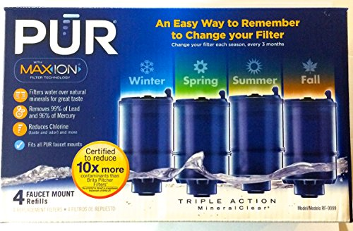 4 PUR Faucet mount refills with Maxion and Mineralclear RF-9999 (Pur Faucet Refill Mineralclear compare prices)