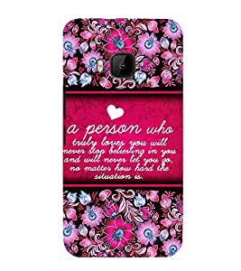 Amazing Love Quote 3D Hard Polycarbonate Designer Back Case Cover for HTC One M9 :: HTC M9 :: HTC One Hima