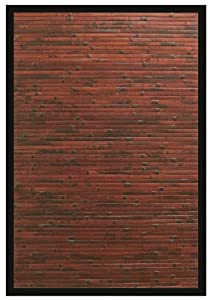 Anji Mountain AMB0085-0069 Cobblestone Area Rug, Mahogany, 6-Foot by 9-Foot