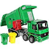 Click n' Play Friction Powered Garbage Truck Toy with Garbage Cans