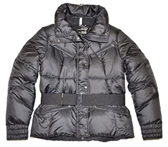 RLX by Ralph Lauren Women Belted Down Jacket (S, Black)