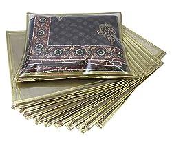 Ruhi's Creations (TM) Premium Golden Saree Bag / Cover (Pack of 10)