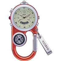 DAKOTA (ダコタ) カラビナウォッチ AnglerII DWC-4001OR 方位計 温度計 LEDライトつき