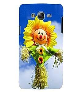 ColourCraft Funny SunFlower Design Back Case Cover for SAMSUNG GALAXY J5